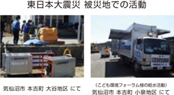 Great East Japan Earthquake Activities in disaster areas
